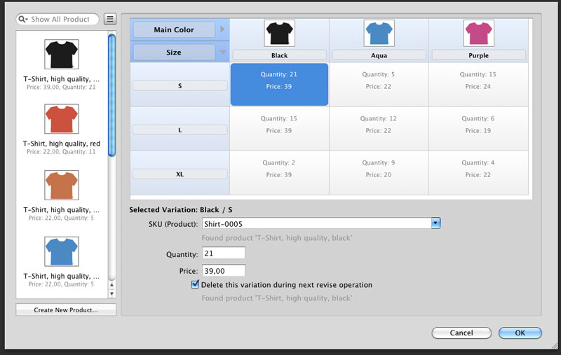 t shirt inventory template